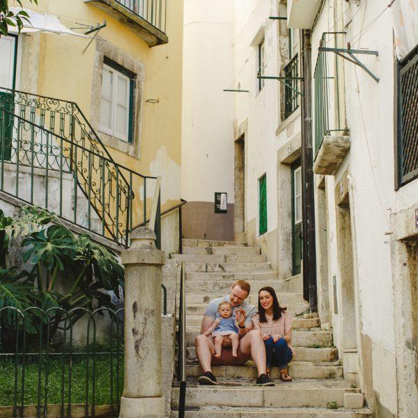 Sessão de Família por Lisboa :: Jessica + Steven + Stella