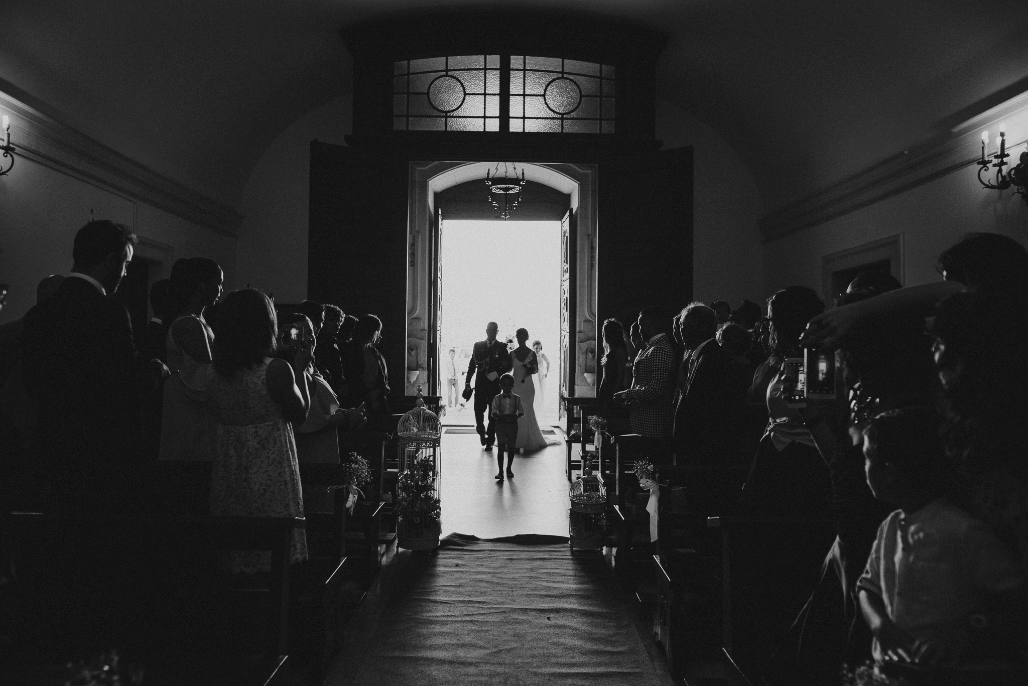 Bride and her father entering the church