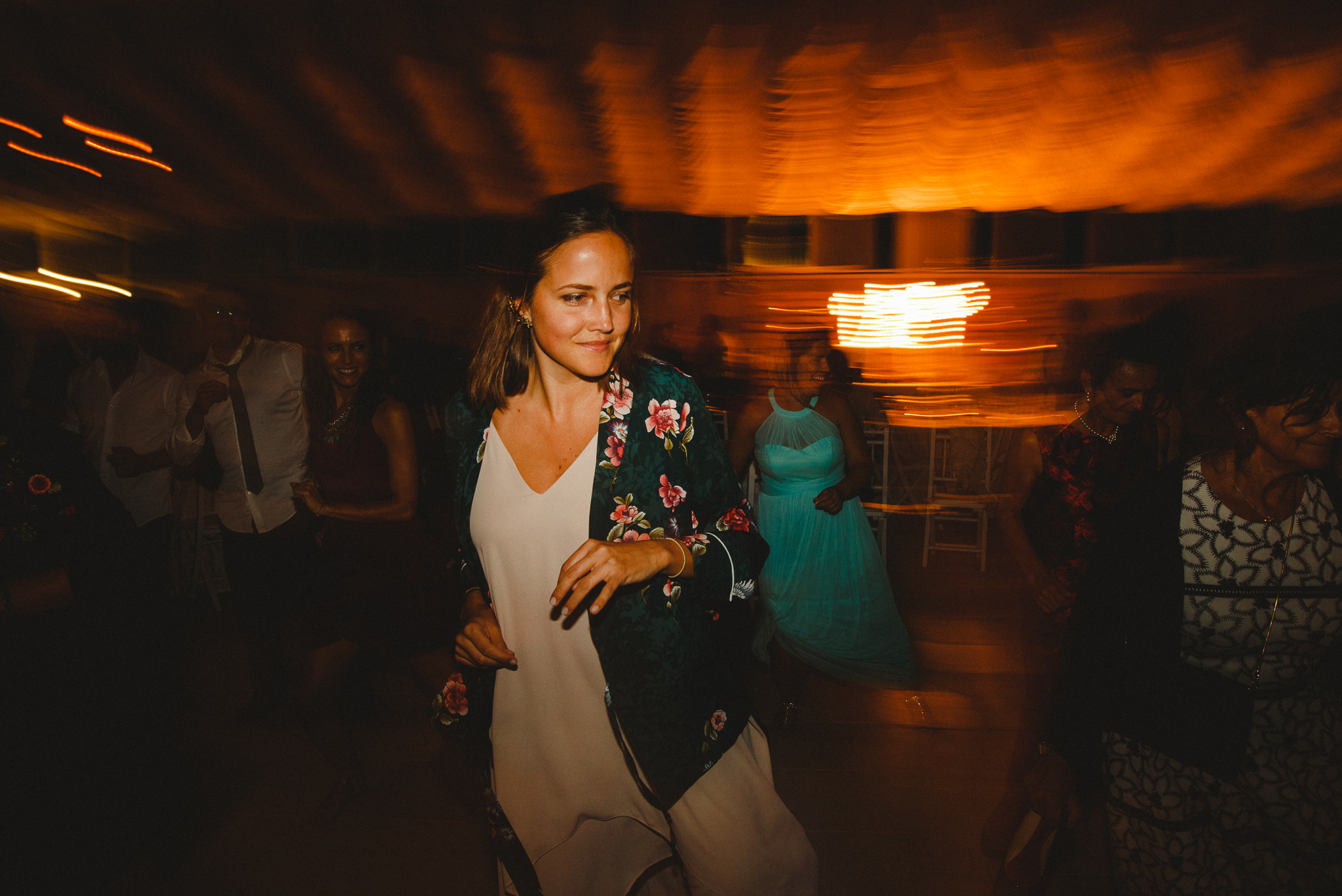 Wedding guest dancing on the dance floor