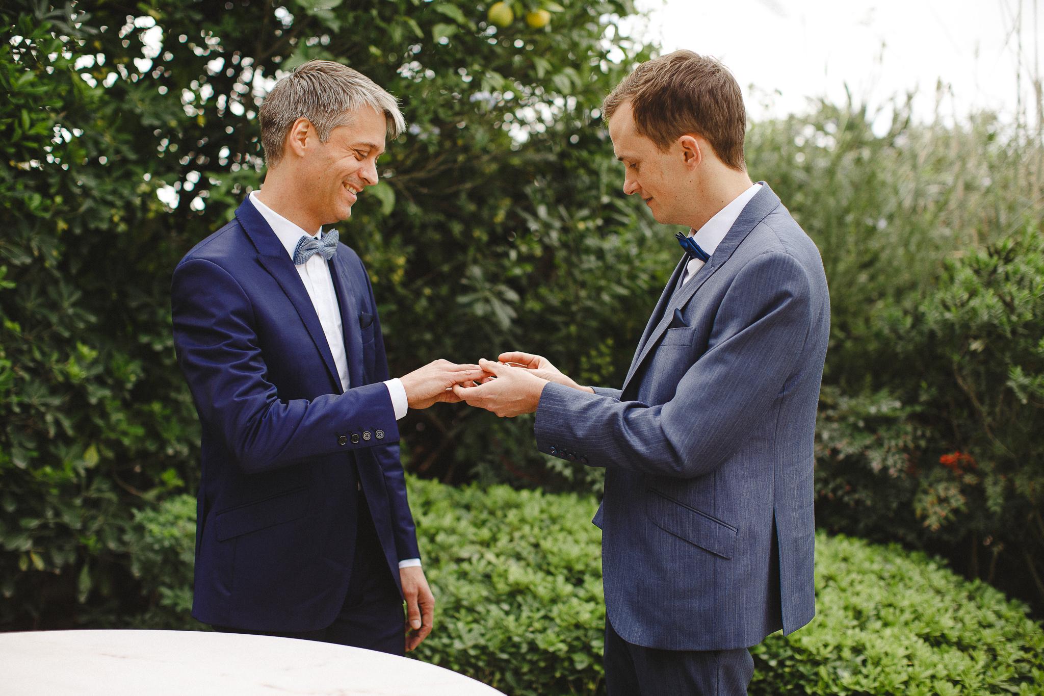 A same-sex wedding in Norwegian Embassy in Lisbon