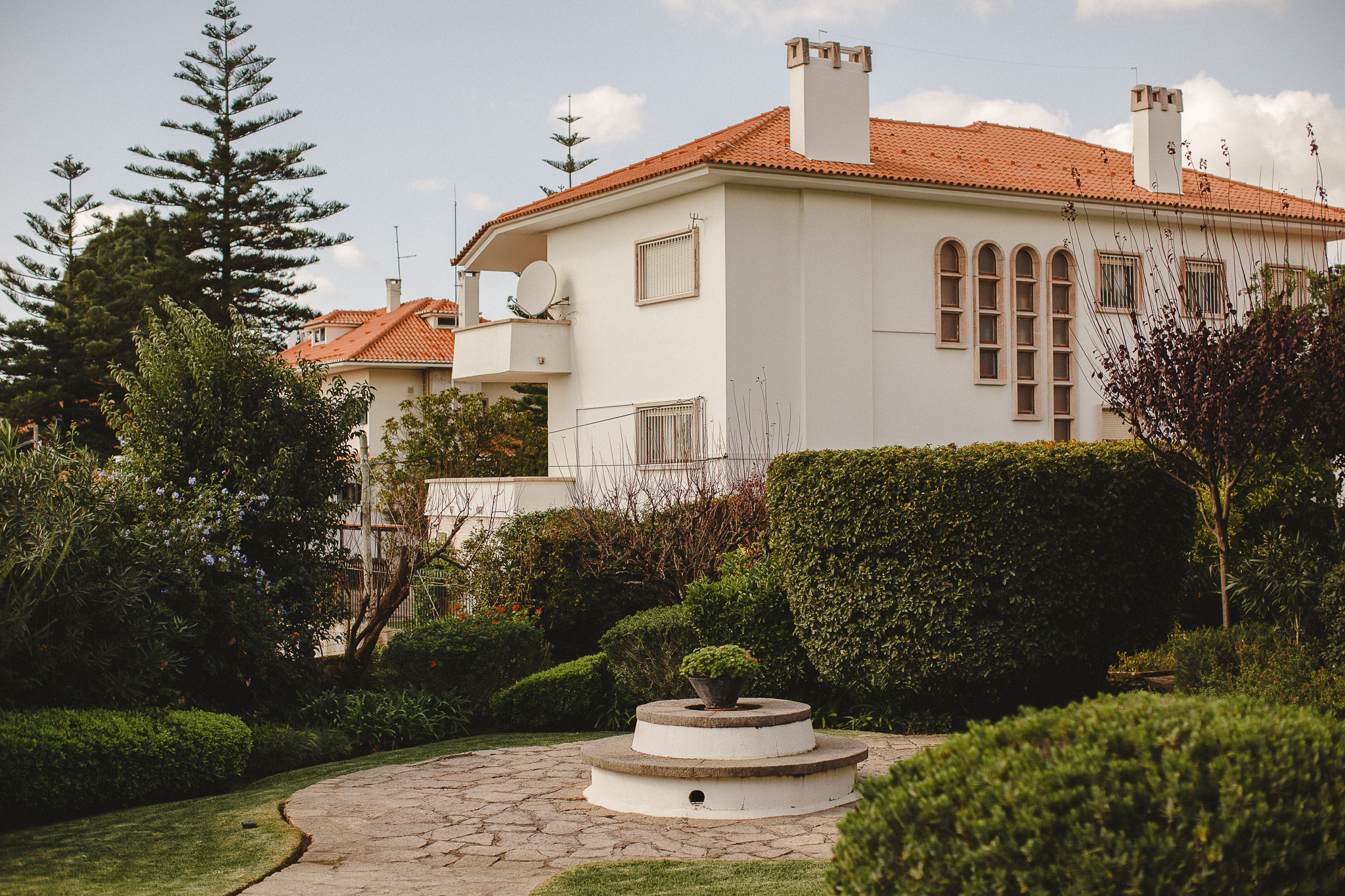 A view over the gardens of the Norwegian Embassy.