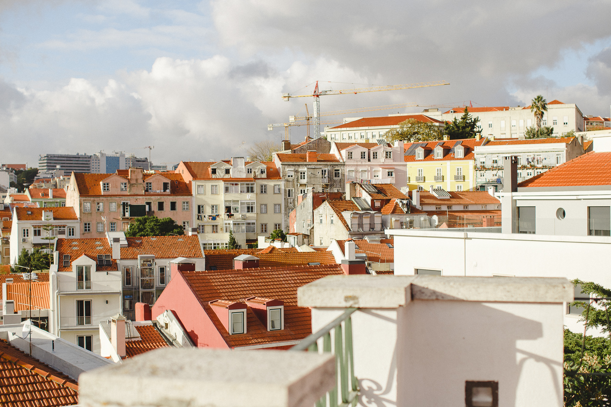 View over Lisbon at the end of the day by Hello Twiggs.